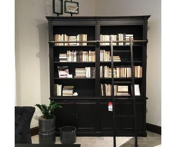 Arhaus Athens Modular Double Bookcase in Tuxedo Black
