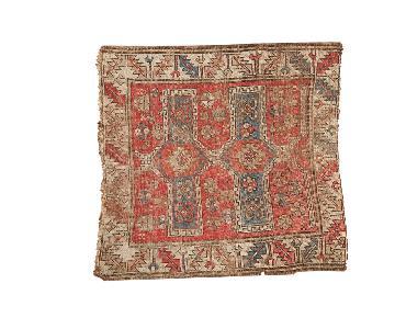 Vintage Caucasian Square Rug