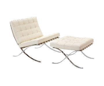 Design Within Reach Knoll Barcelona Chair & Ottoman