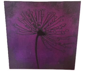 Pier 1 Purple Flower Canvas Artwork