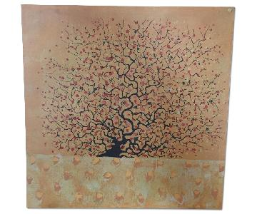Pier 1 Orange Tree Canvas Artwork