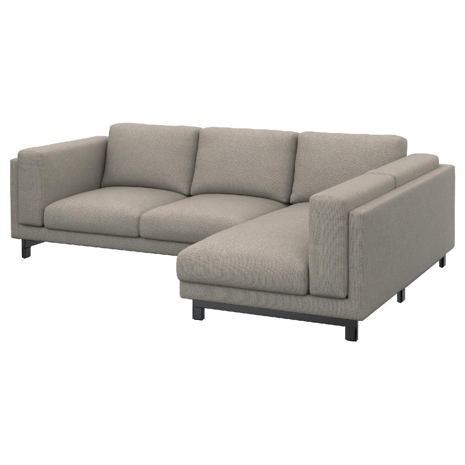 Ikea Nockeby Blue Grey 2 Piece Sectional Sofa ...  sc 1 st  AptDeco : 2 piece sectional sofa - Sectionals, Sofas & Couches