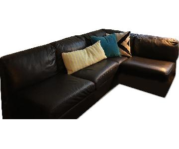 The Door Store Leather Sectional Sofa