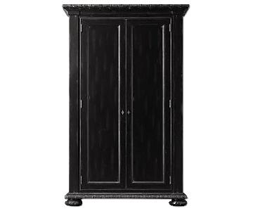 Restoration Hardware Black French Empire Armoire