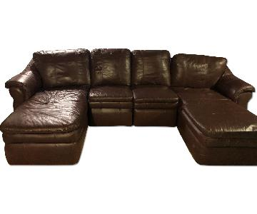 La-z-Boy Leather U-Shape Sectional Sofa