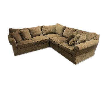 Crate & Barrel Huntley Sectional Sofa