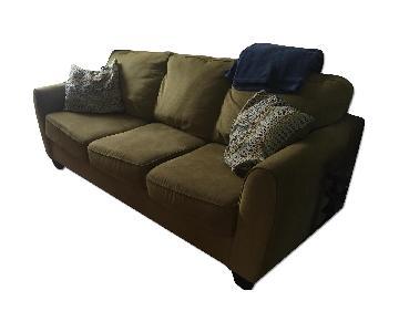 Light Green Fabric Sofa