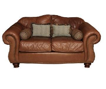 Thomasville Leather Loveseat