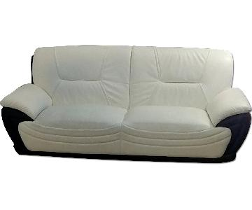 Alicia White & Black 2 Tone Modern Sofa