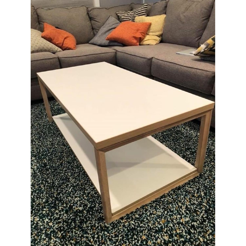 Modern White Coffee Table AptDeco