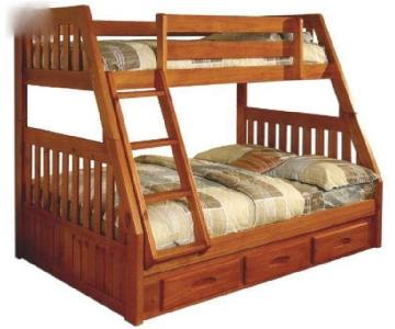Twin Over Full Wood Bunk Bed