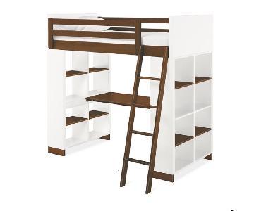 Room & Board Moda Loft Bed w/ Desk & Shelves