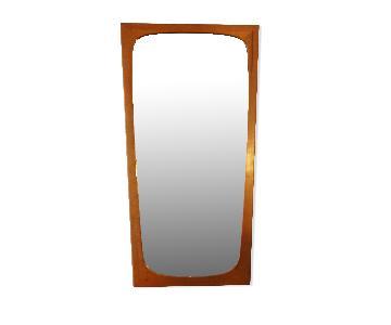 Danish Mid Century Modern Tall Teak Mirror