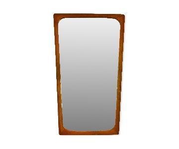 Danish Mid Century Modern Teak Mirror