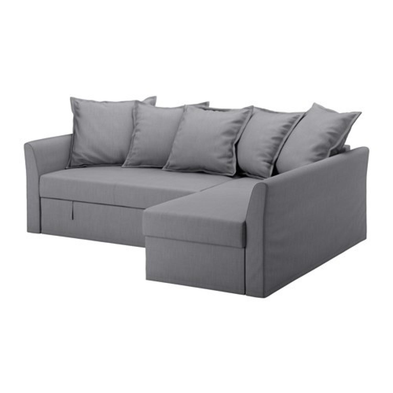 Ikea Holmsund Sleeper Sectional Sofa AptDeco