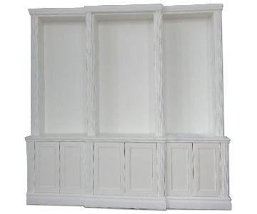 Custom Made Wood & White Bookshelf