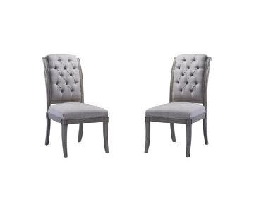 TOV Addington Beige Linen Side Chair