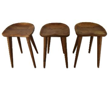 Organic Modernism Wood Stool