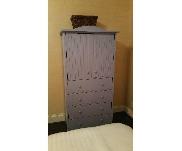 Maine Cottage Periwinkle Blue Armoire/Chest of Drawers