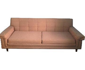 Vintage Mid Century Mauve Couch