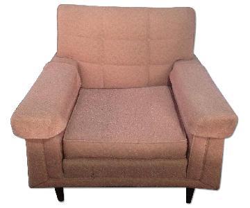 Vintage Mauve Arm Chair