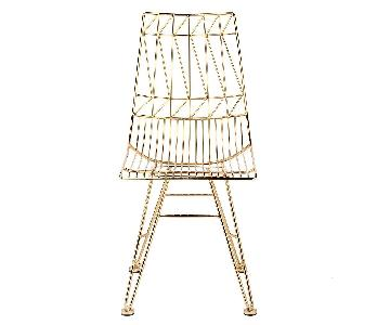 TOV Allure Gold Steel Chair