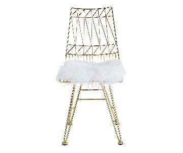 TOV Allure White Sheepskin Seat