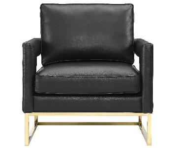 TOV Avery Black Leather Chair