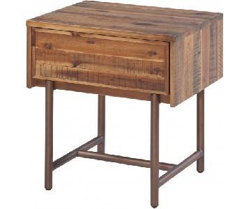 TOV Bushwick Wooden Nightstand
