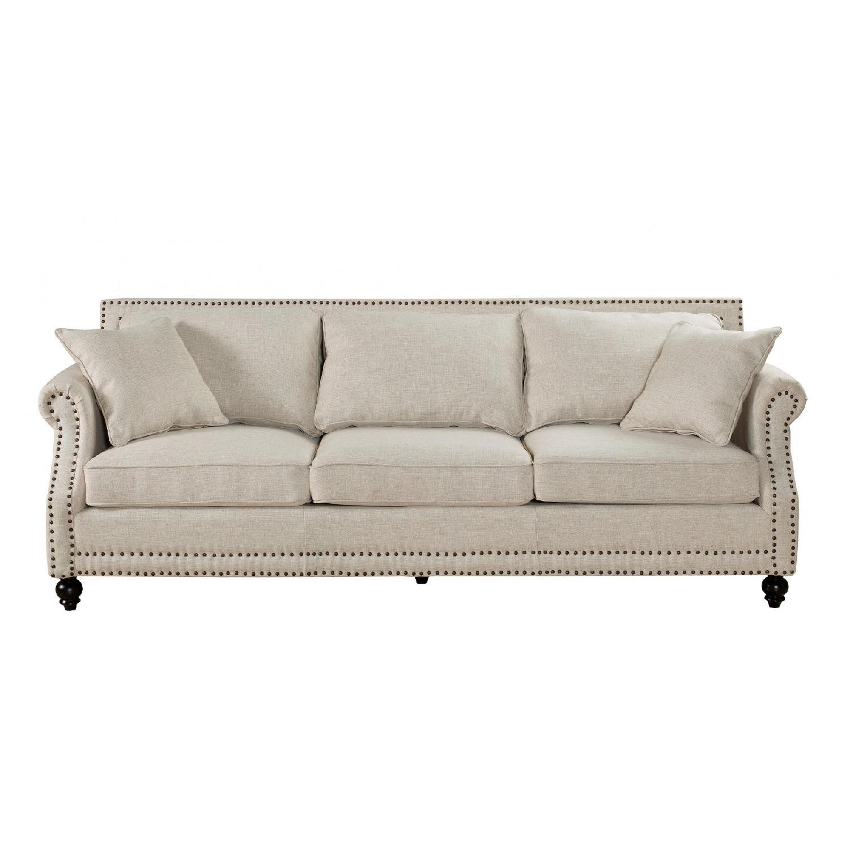 TOV Camden Beige Linen Sofa