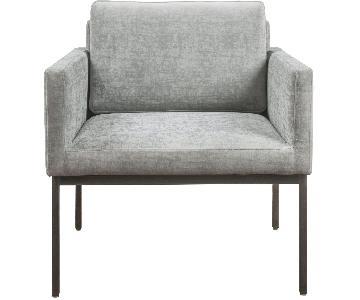 TOV Canton Grey Velvet Chair