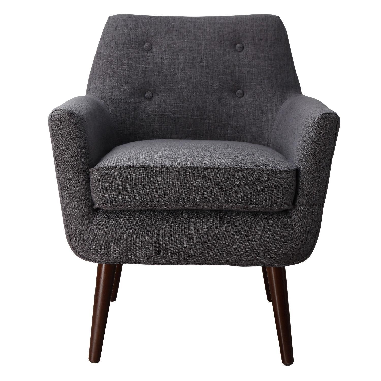 TOV Clyde Grey Linen Chair