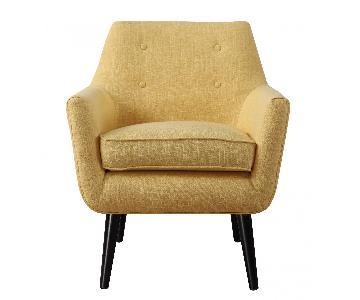 TOV Clyde Mustard Yellow Linen Chair