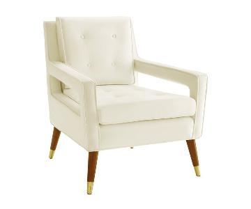 TOV Draper Cream Velvet Chair