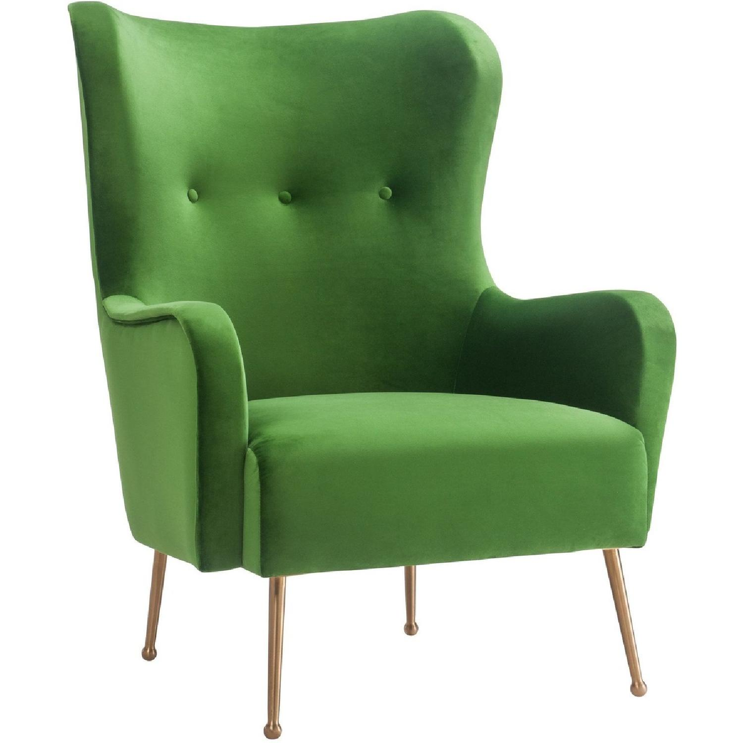 TOV Ethan Green Velvet Chair