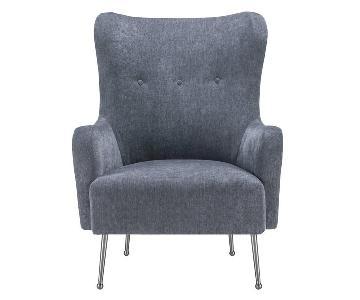TOV Ethan Green Velvet Chair