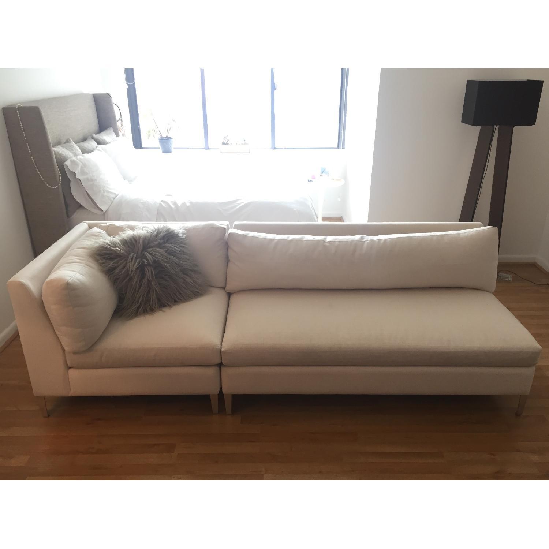 CB2 Cielo 2 Piece Sectional Sofa AptDeco