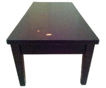 Jennifer Convertibles Darkwood Coffee Table