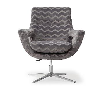 TOV Fifi Grey Swivel Chair