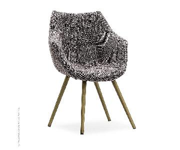 TOV Finn Grey Tweed Chair
