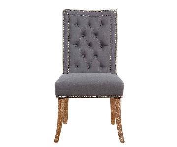 TOV Garrett Grey Linen Dining Chair