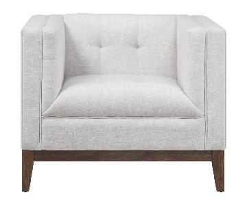 TOV Gavin Beige Linen Chair