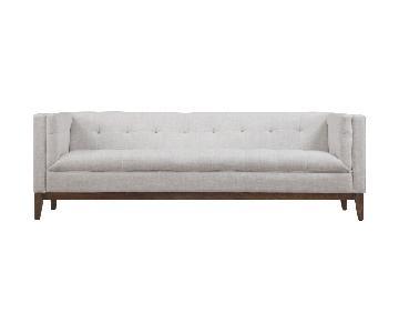 TOV Gavin Beige Linen Sofa