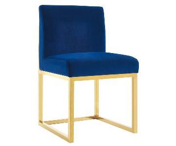 TOV Haute Navy Velvet Chair