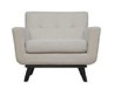 TOV James Beige Linen Chair