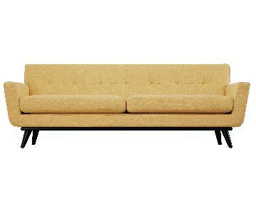 TOV James Mustard Yellow Linen Sofa