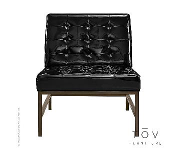 TOV Jed Black Patent Leather Chair