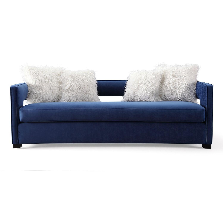 TOV Kennedy Navy Velvet Sofa