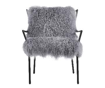 TOV Lena Grey Sheepskin Chair