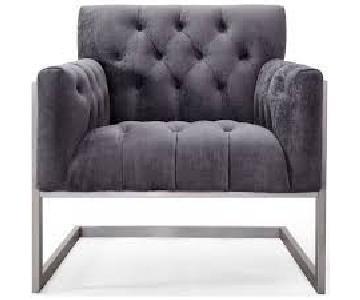 TOV Moya Grey Velvet Chair
